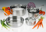 Stainless Steel Professional Cookware set, 7 Piece Collection