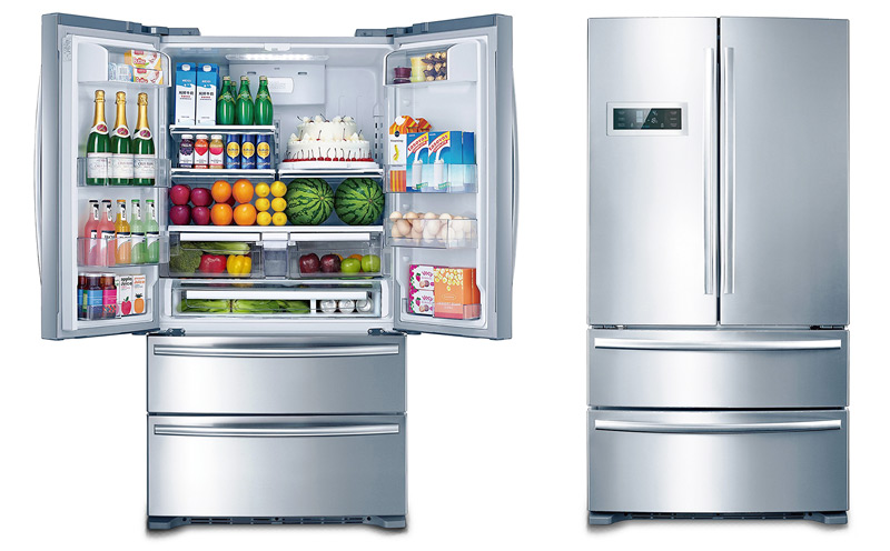 THOR 36 Inch Refrigerator With French Doors And Two Freezer Drawers ...