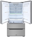 THOR 36 inch Refrigerator with French Doors and Two freezer drawers
