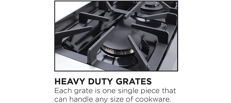 THOR heavy duty top burner grates