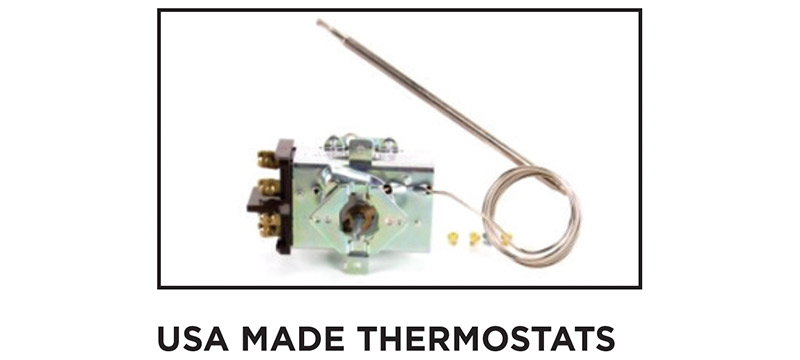 THOR oven and griddle thermostats are Made in USA