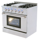 THOR 36 inch Range with Griddle Section, LED indicators on control panel
