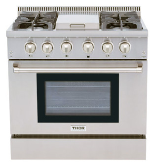 THOR 36 inch range with griddle