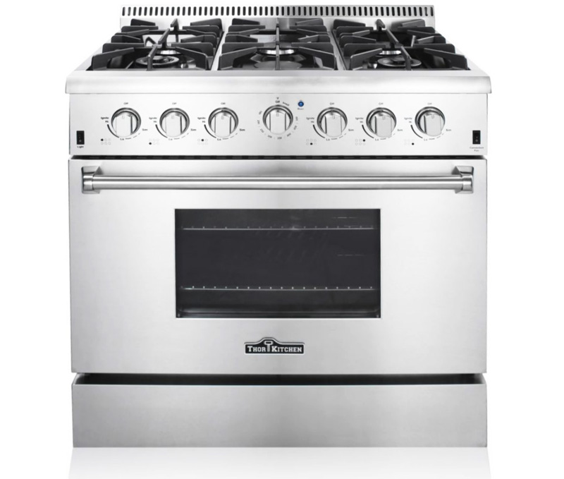 36 gas stove top with griddle range stainless electric inch