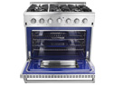 Easy Clean Blue Ceramic Oven Interior