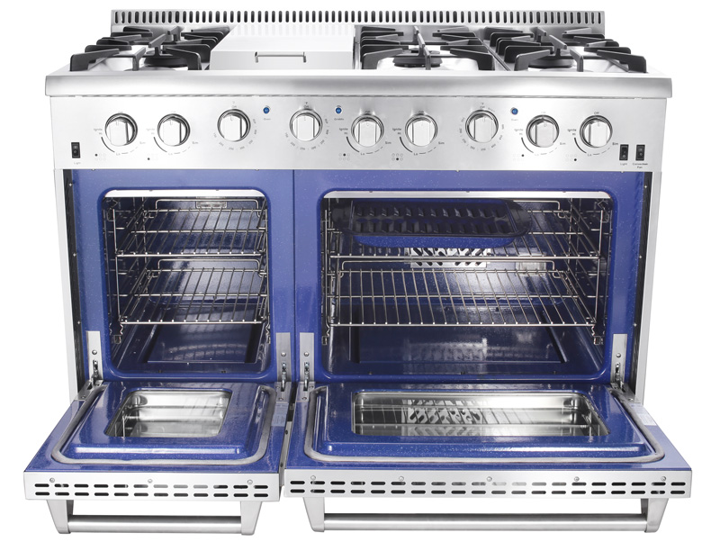 Double Oven Gas Range. Thor Double Oven Model Hrg4808u Professional Gas  Range Double Oven Gas