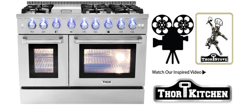thor model hrg4808u double oven range - Kitchen Stove