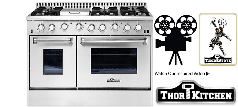 THOR Model HRG4808U Double Oven Range ...