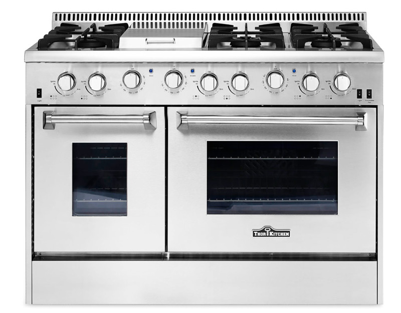 Thor kitchen stoves professional stainless steel ranges and hoods - Gas electric oven best choice cooking ...