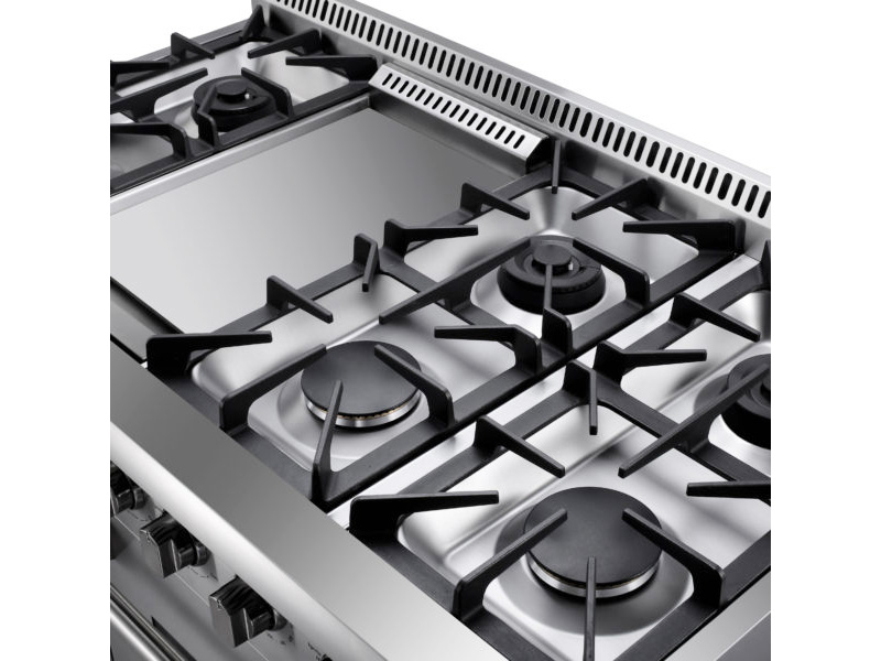 ... Six Burners Plus Griddle Section Makes The 48 THOR Professional Range  The Center Of Your Kitchen ...