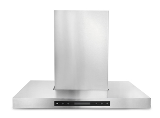 THOR 36 inch wall mount chimney style hood with flat winged Euro design
