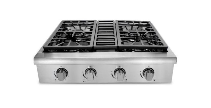 Cook top gpc4 xl 4 burners 2 free heat zones 30u201d gas cooktop with superboil pigeon - Gas electric oven best choice cooking ...