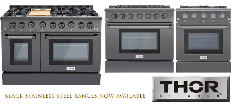 New THOR Black Stainless Steel Edition Ranges