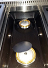 Premium Brass and Alloy Center Burners on 36 inch THOR Professional six burner Range